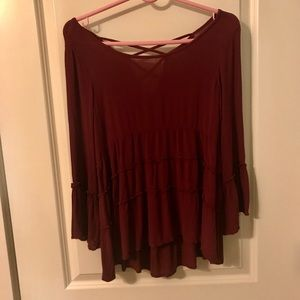 American Eagle Red Blouse